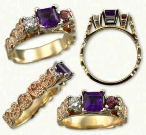 A képen gyűrűk láthatók